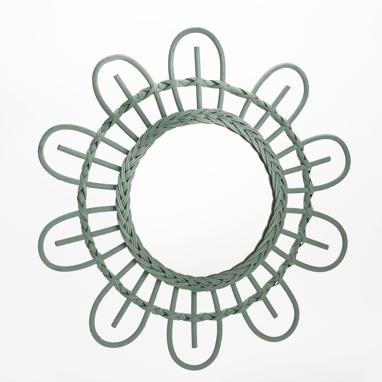 Margy green flower mirror