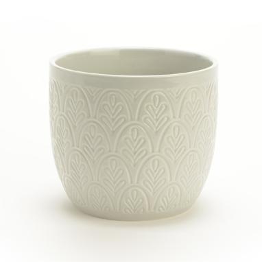 Mac ceramic flowerpot