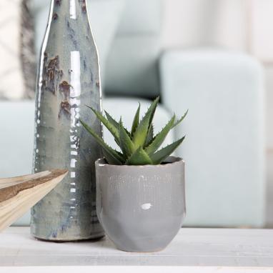 Atel blue flowerpot stand