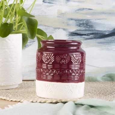 Yam vase marron