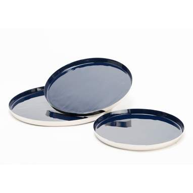 Dise set blue trays