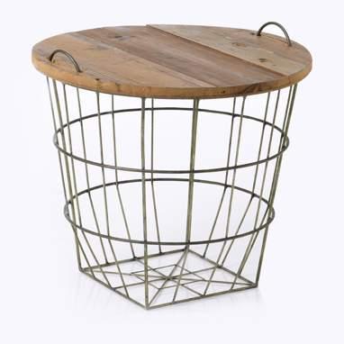 Kagin cesta / tavolino metallo-legno