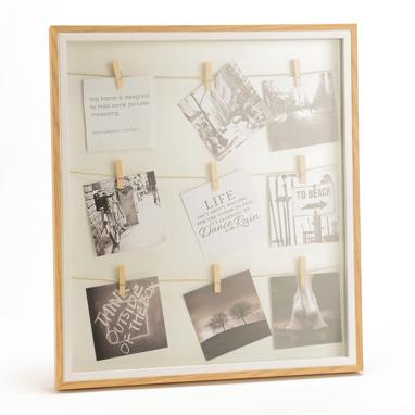 Poly white photoframe 39x43