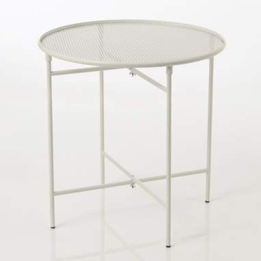 Kaspi white metal auxiliary table