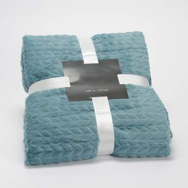 Posy blue blanket