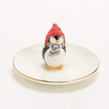 Glas penguin tom jewellery dish