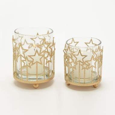 Port gold star candleholder