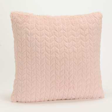 Supo pink chevron cushion