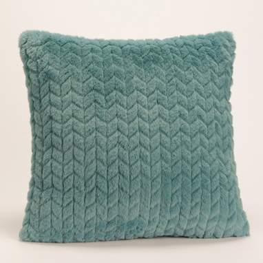 Pavy blue chevron cushion