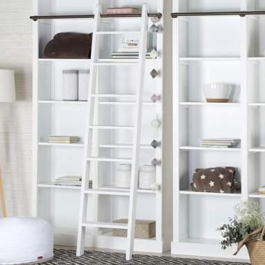 Tand escalera para estanteria tand blanca