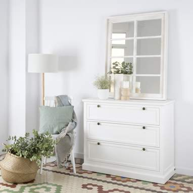 Nantes white chest 3 drawers