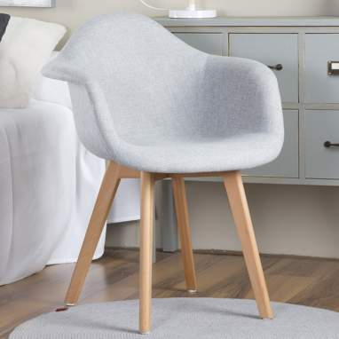 Kast grey fabric armchair