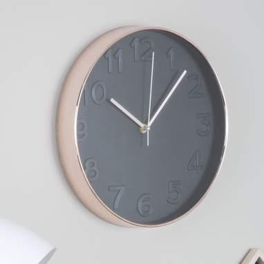 Riob reloj pared  negro