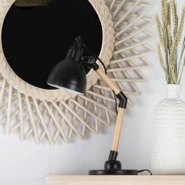 Plet lampada nera legno