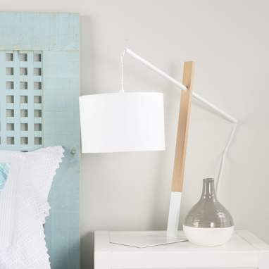 Enaj white deco standard lamp 48h