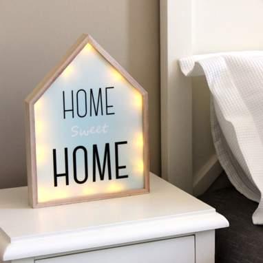 Home casa letreiro com luz