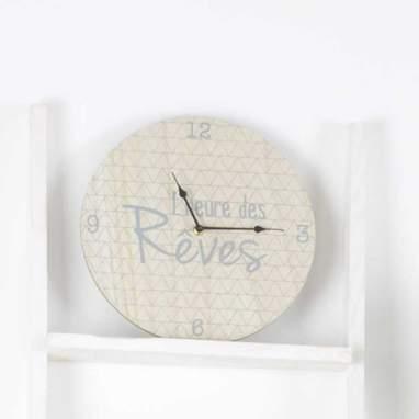 Romy horloge mural gris 30