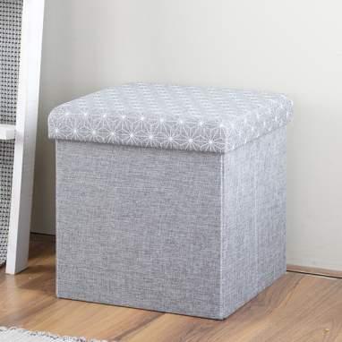 Luny scatola-pouf pieghevole grigio