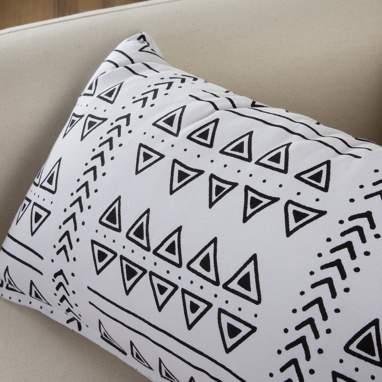 Haus coussin azteca noir-blanc 50x30