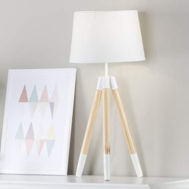 Holie lampara tripode madera