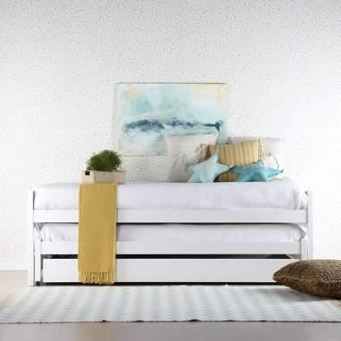 Eyre lit gigogne blanche avec tiroir