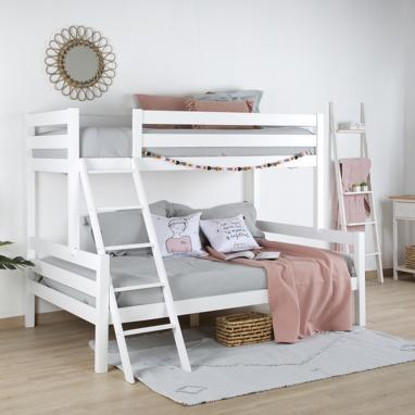 Trezy white bunk bed