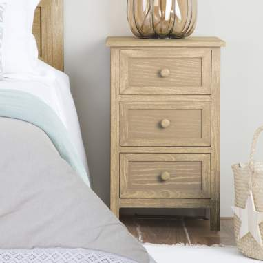 Arua bedside table 3 drawer