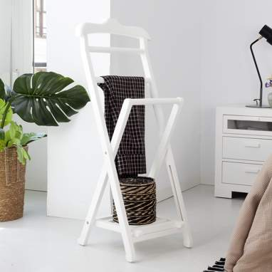 Manua white valet stand