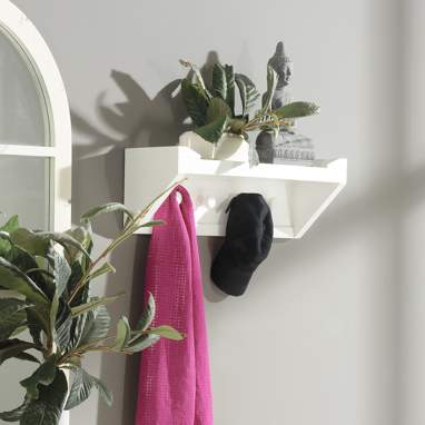 Capri white clothes rack
