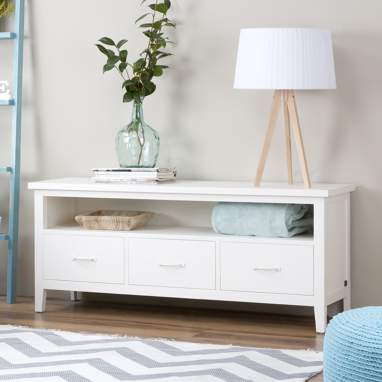 Sintra white tv stand