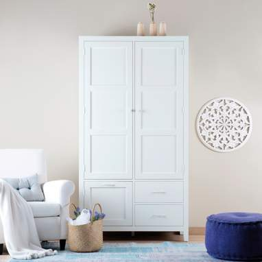 Dina white wardrobe