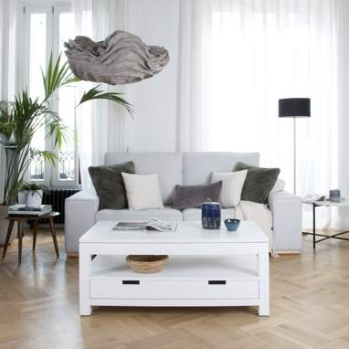Jil white lift top coffee table