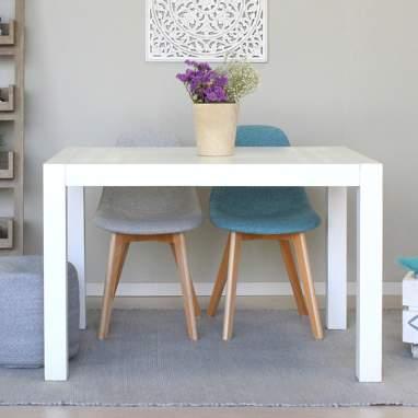 Misool table à rallonges 120/170 blanche