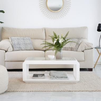 Luka white ivory coffee table