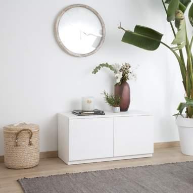 Gante ivory white tv stand 100