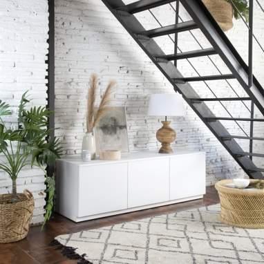 Gante mueble tv 150 blanco marfil