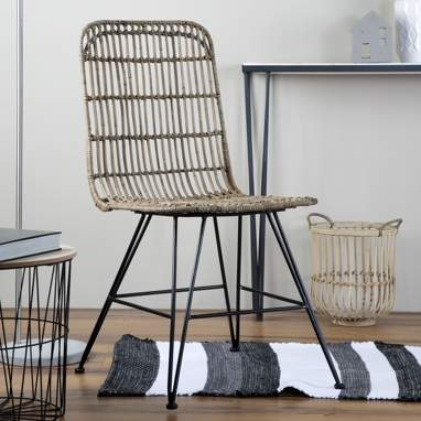 Apur grey rattan chair