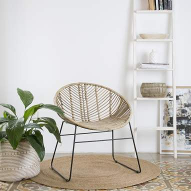 Luass grey rattan armchair