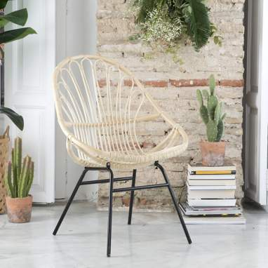 Adis natural ratan armchair