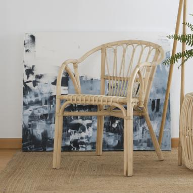 Luanda natural ratan armchair