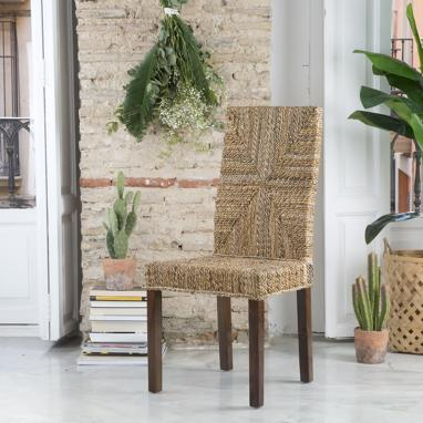 Acra natural ratan chair
