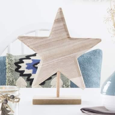 Xtar stella legno naturale 25cm