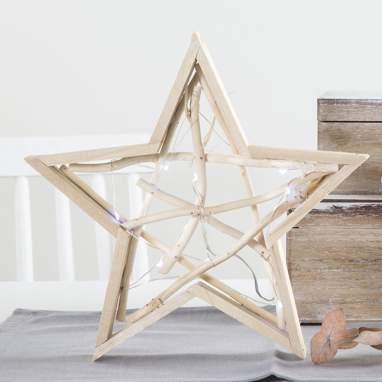 Maky stella con led naturale 28cm