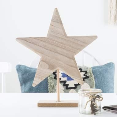 Xtar stella legno naturale 30cm