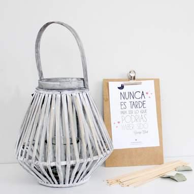 Litra lantern triangular 27 cm gris