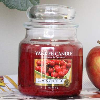 Bougie boîte moyen black cherry