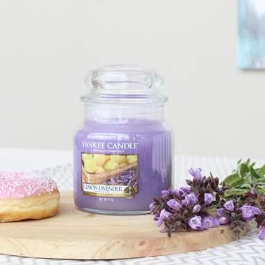 Bougie moyen pot lemon lavender