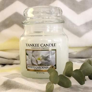 Bougie moyen pot white gardenia