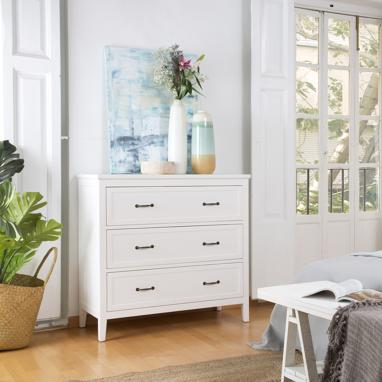 Mayen ivory white chest of drawers