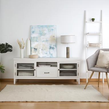 Mayen ivory white tv stand 160